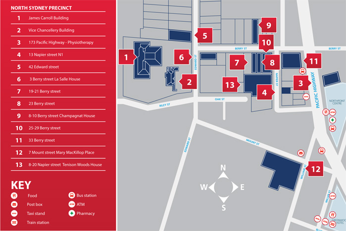 Acu Strathfield Map North Sydney Campus Maps   Students Acu Strathfield Map